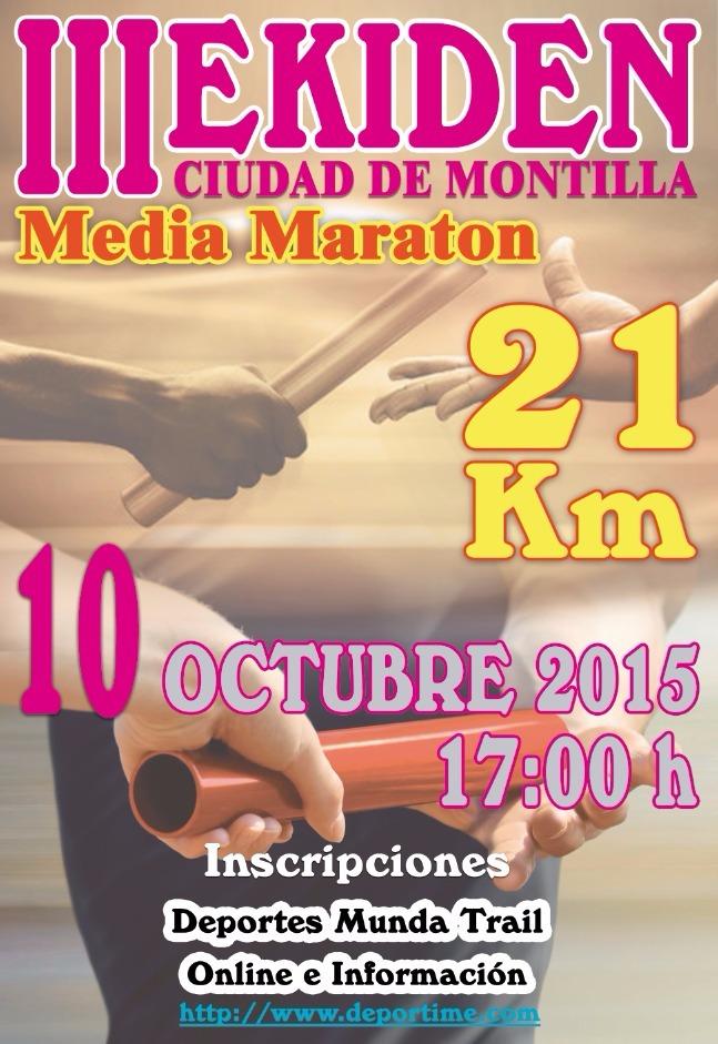 Carrera III Media Maraton Ekiden Ciudad de Montilla