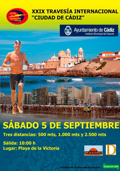Carrera XXX Travesía a Nado Ciudad de Cádiz